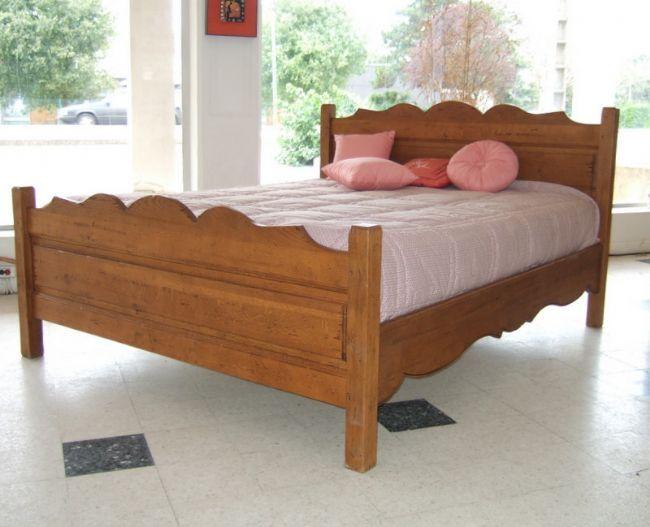 lit 160 campagnard. Black Bedroom Furniture Sets. Home Design Ideas