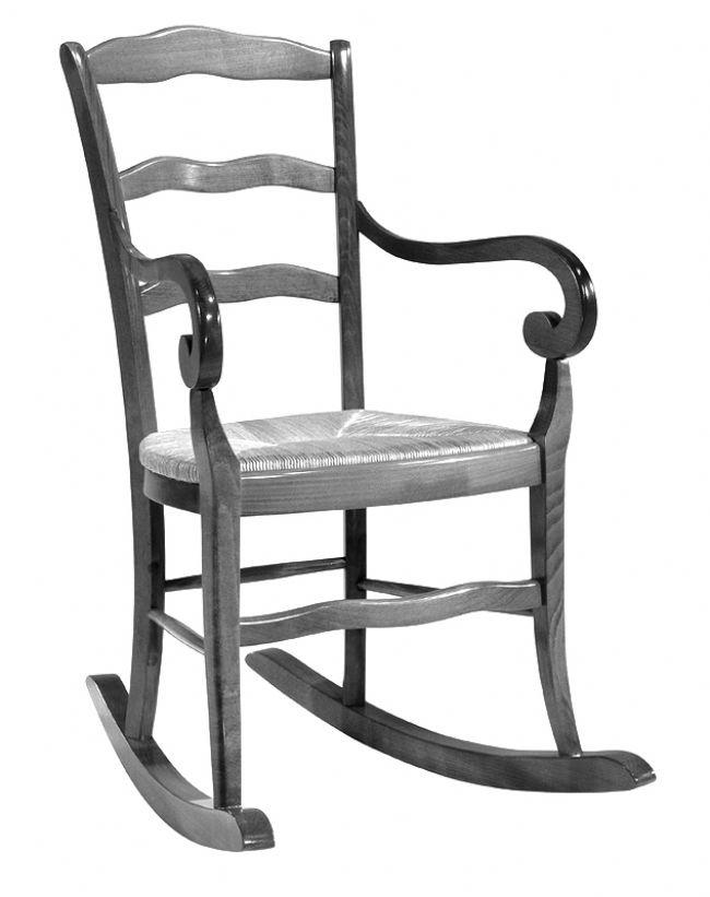 Rocking chair style ancien gris - Acheter rocking chair ...